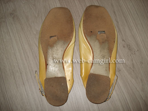 female selling worn shoes (sport)