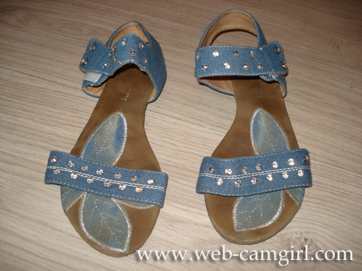 used girly sandals