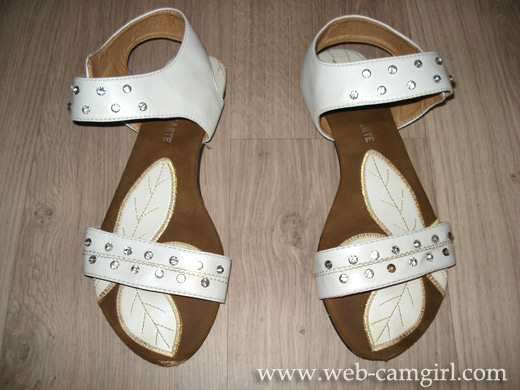 hot girl's used sandals